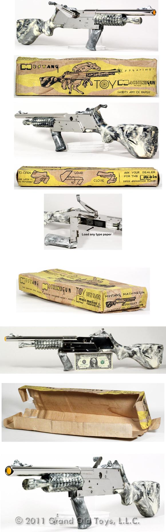 c.1948 Main Machine, Mustang Machine Gun In Original Box