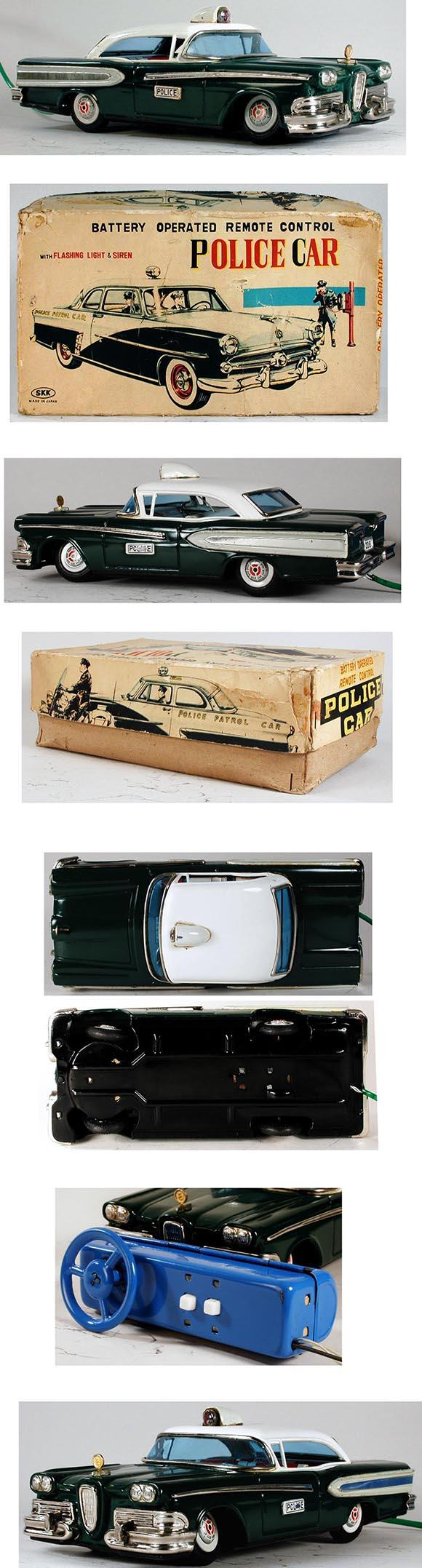 1958 Yonezawa, Remote Control Edsel Police Car in Original Box