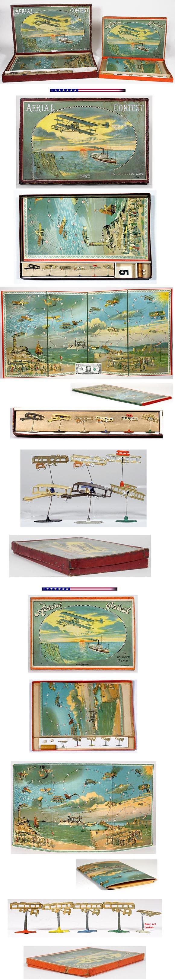 1907 Spear's Aerial Contest Games (2 versions) in Original Boxes