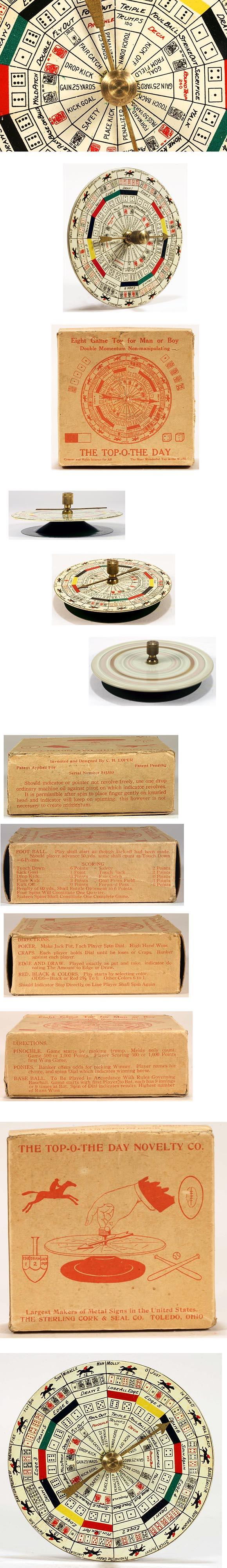c.1925 Sterling Co., Top-O-The Day 8-Game in Original Box