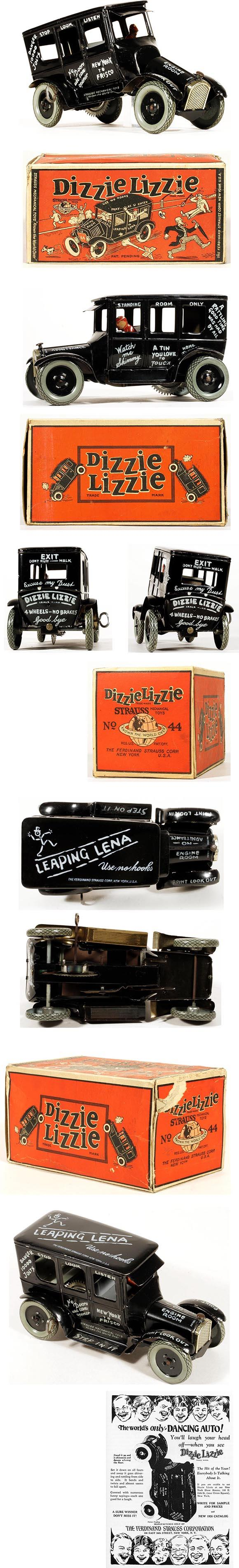 1925 Strauss, Dizzie Lizzie (Leaping Lena) in Original Box