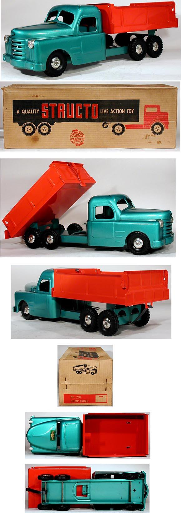 1951 Structo, #201 Dump Truck in Original Box