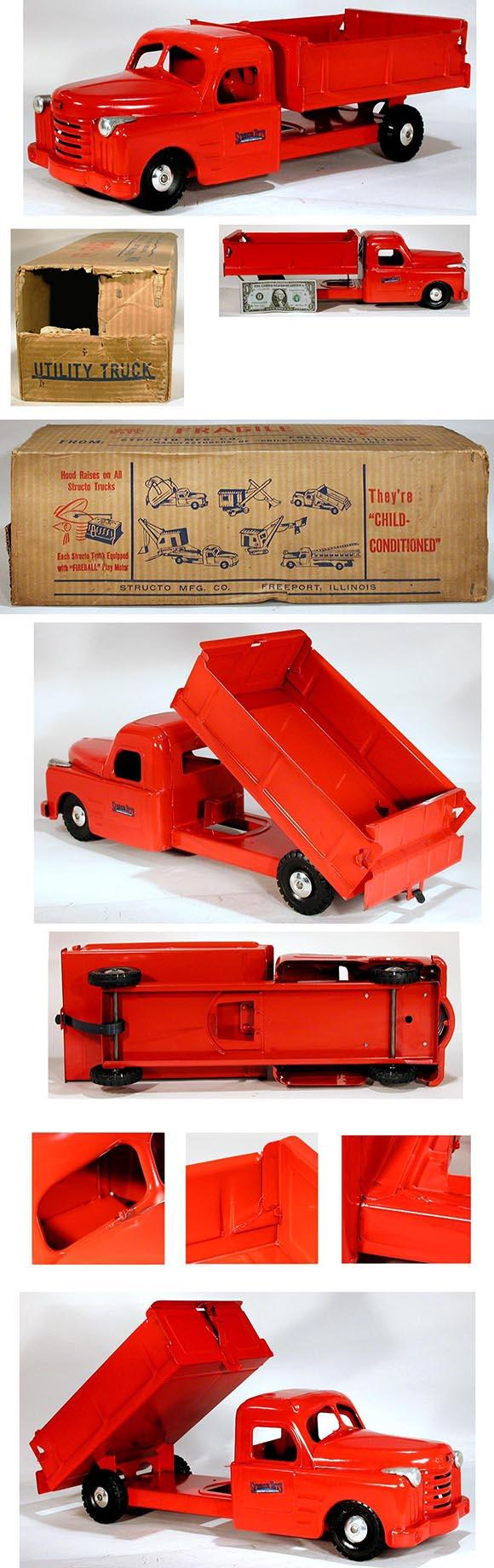 1951 Structo, No. 500 Dumping Utility Truck in Original Box