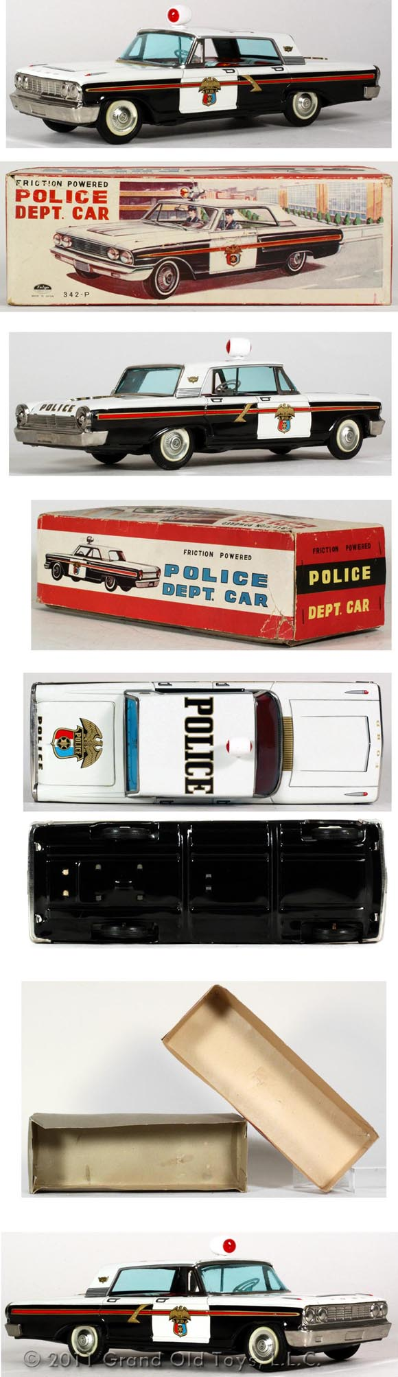 1963 Taiyo Ford Friction Police Dept Car In Original Box
