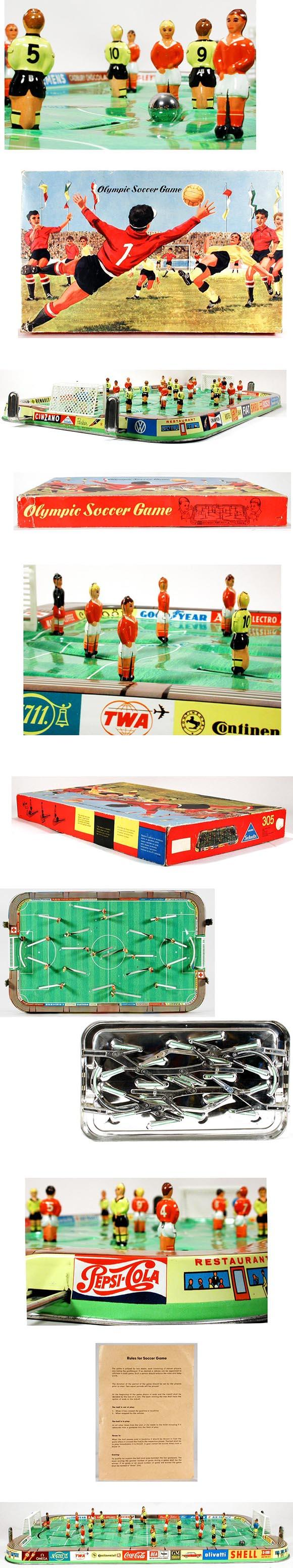 c.1964 Technofix, Olympic Soccer Game in Original Box
