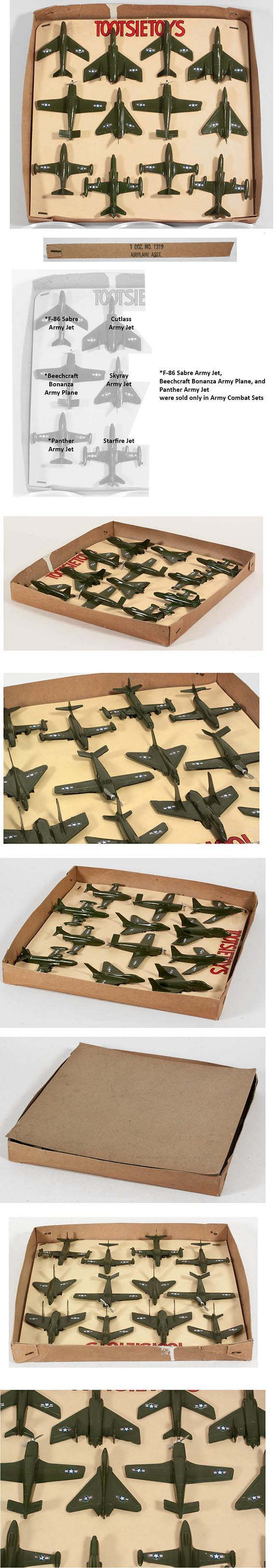 1958 Tootsietoys Sales Sample, No.1319 Airplane Assortment Set in Orig. Box