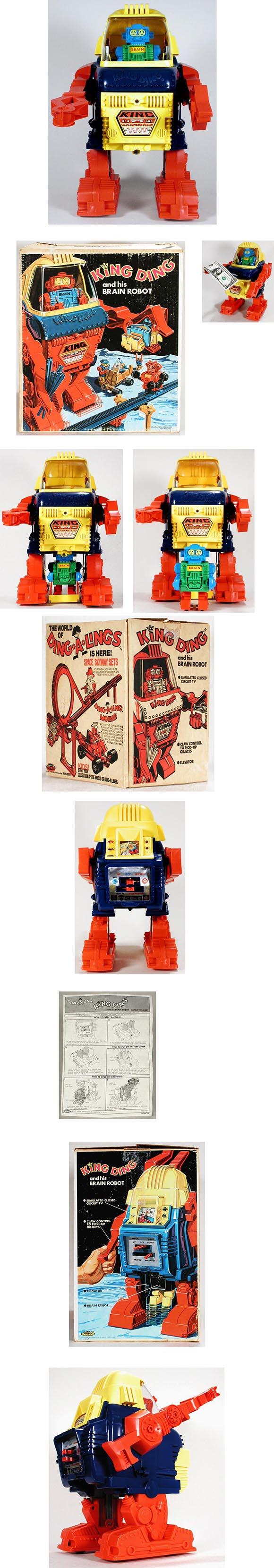 1971 Topper Toys, King Ding and His Brain Robot in Original Box