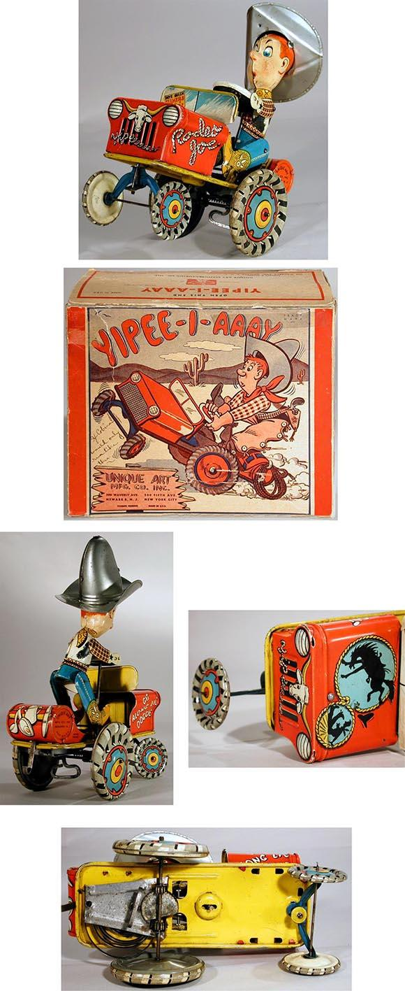 c.1947 Unique Art Mfg. Co., Yipee-I-Aaaay Rodeo Joe  in Original Box