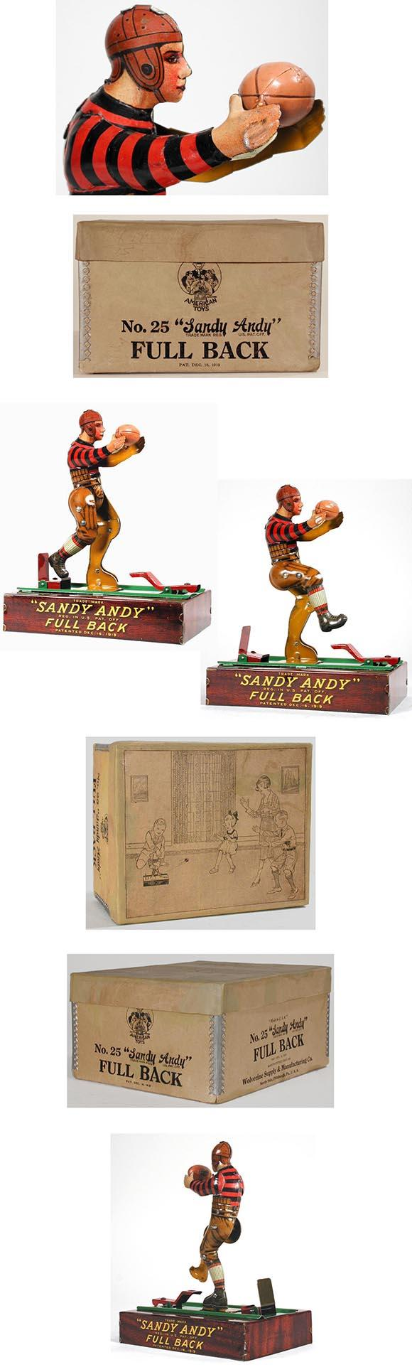 1919 Wolverine, Sandy Andy Full Back (Football Player) in Original Box