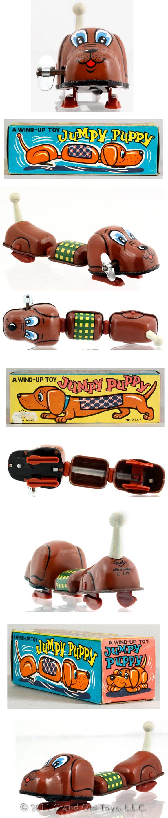 c.1963 Yone Jumpy Puppy In Original Box