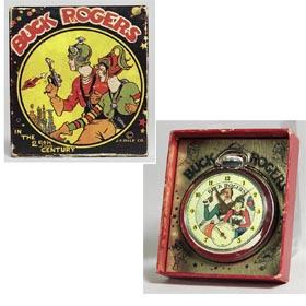 1935 Buck Rogers Ingraham Pocket Watch in Original Box
