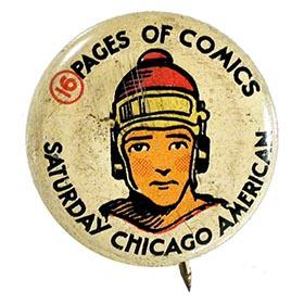 c.1934 Greenduck Co., Buck Rogers Saturday Chicago American Litho Button