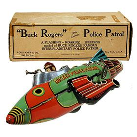 1935 Marx, Buck Rogers Rocket Police Patrol in Original Box