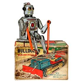 1957 Linemar, Bulldozer Which A Robot Operates in Original Box