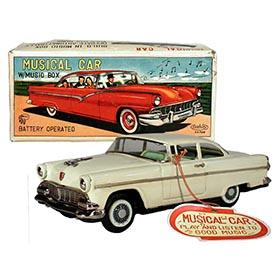1955 Asahitoy Toy Company, Musical Ford in Original Box
