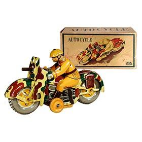 1937 K.T, Autocycle Sparkling Military Motorcycle in Original Box