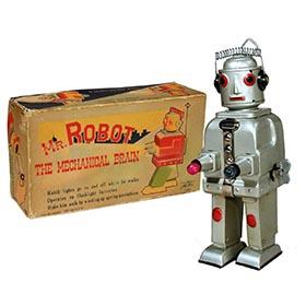 c.1950 Alps, Mr. Robot The Mechanical Brain in Original Box