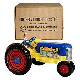 1948 Marx, Heavy Gauge Steel Tractor in Original Box