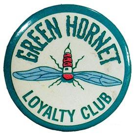 1941 Green Hornet Loyalty Club Celluloid Button