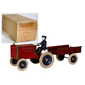 1923 Kingsbury, Mechanical Tractor & Trailer in Original Box
