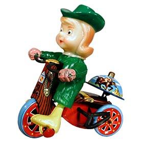 1950's Marx, Mechanical Leprechaun Tricycle with Revolving Bell