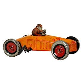 c.1925, Chein Tinplate Clockwork Racer #3