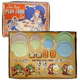 c.1948 Ohio Art, Like Real Play Food Set in Original Box