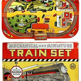 1947 Marx, Mechanical Miniature Freight Train Set in Original Box