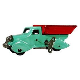 1936 Marx, Miniature Mechanical Steel Tipper Dump Truck