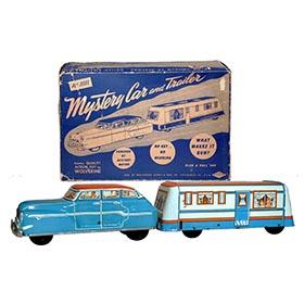 1953 Wolverine, Mystery Car and Trailer in Original Box