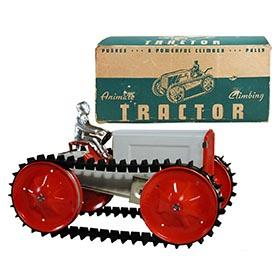c.1939 Woodhaven Metal Stamping Co., Animate Climbing Tractor in Original Box