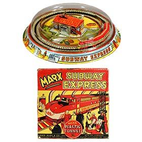 1954 Marx, Subway Express with Plastic Tunnel in Original Box