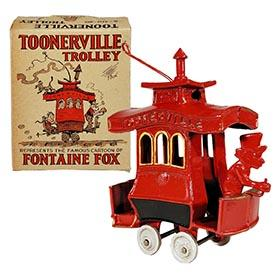 c.1924 Dent Hardware Co., Toonerville Trolley in Original Box