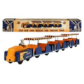 1939 Arcade, No. 7290 New York World's Fair Tractor Train in Original Box