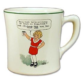1932 Little Orphan Annie Ceramic Ovaltine Mug