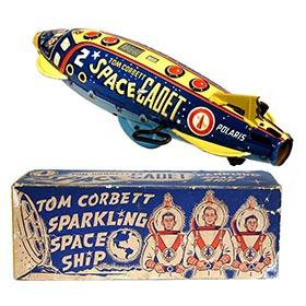 1952 Marx, Tom Corbett Polaris Space Ship in Original Box