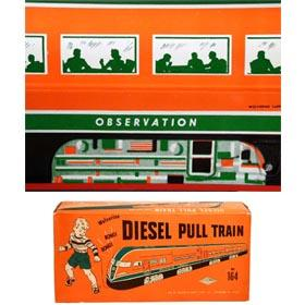 1950 Wolverine, Diesel Pull Train in Original Box