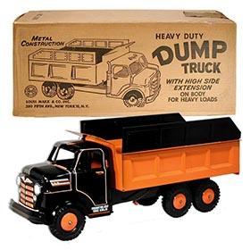 1957 Marx, No.2083 Heavy Duty Dump Truck in Original Box