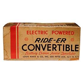 1957 Marx, Electric Rider-Er Convertible, Factory Sealed in Original Box