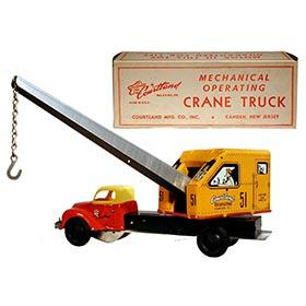 1949 Courtland, Mechanical Operating Crane Truck in Original Box