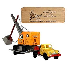 1949 Courtland, No.5300 Steam Shovel and Mechanical Trailer Truck in Original Box