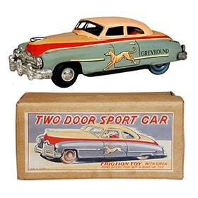 1953 Japan Greyhound Two Door Sport Car in Original Box