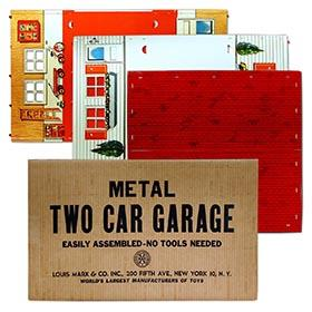 1954 Marx, Metal Two Car Garage in Original Box