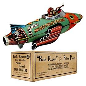 1935 Marx, Buck Rogers 25th Century Rocket Police Patrol in Original Box