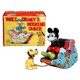 c.1955 Linemar, Walt Disney's Rocking Chair in Original Box