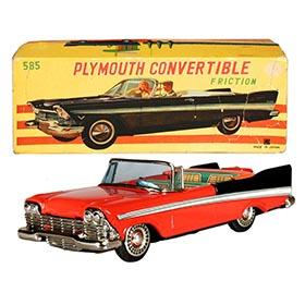 1958 Bandai, Plymouth Fury Convertible in Original Box