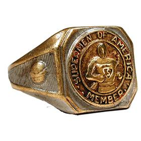 1940 Supermen of America Contest Prize Ring