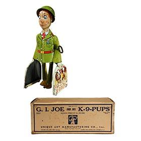 1942 Unique Art Mfg. Co., G.I. Joe And His K-9-Pups in Original Box