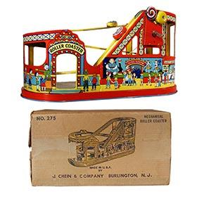c.1949 Chein, No. 275 Mechanical Roller Coaster in Original Box
