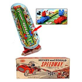 c.1958 Ideal, Mickey and Donald Speedway in Original Box